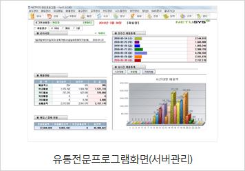 유통전문프로그램(서버관리) 화면